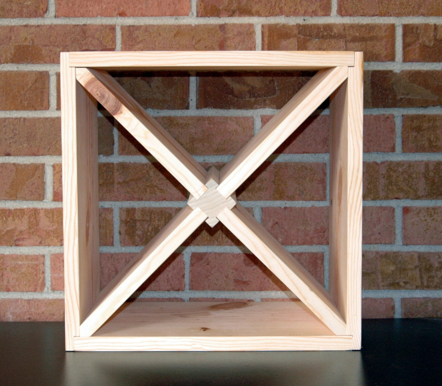 Diy 15 Wood Wine Rack Kit Square With Variations Etsy