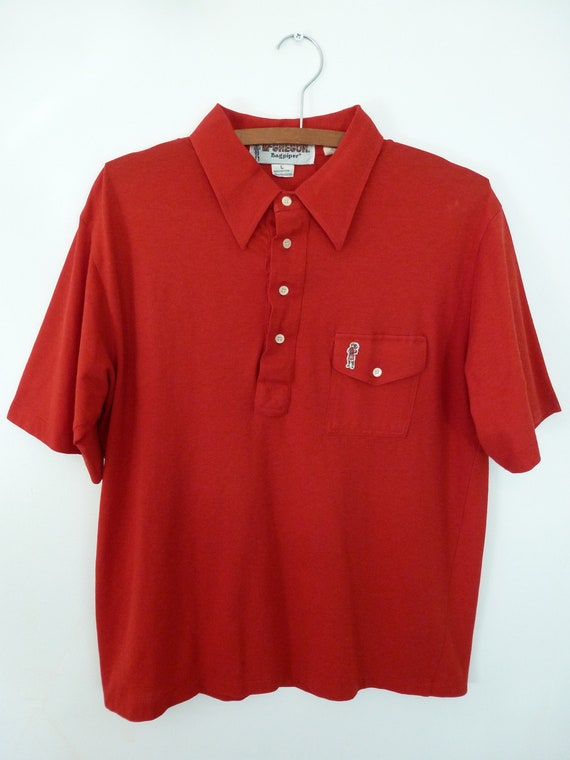 80's McGregor Bagpipers Polo Shirt Soft Thin Worn… - image 3