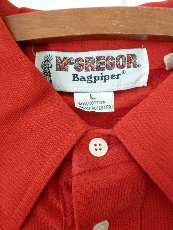 80's McGregor Bagpipers Polo Shirt Soft Thin Worn… - image 6
