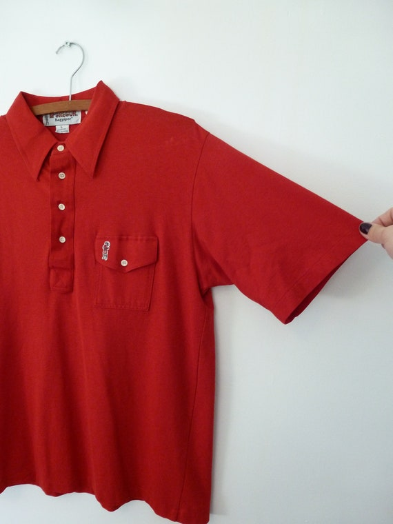 80's McGregor Bagpipers Polo Shirt Soft Thin Worn… - image 5