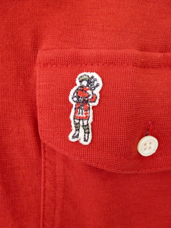 80's McGregor Bagpipers Polo Shirt Soft Thin Worn… - image 2
