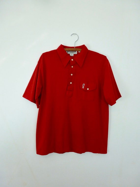 80's McGregor Bagpipers Polo Shirt Soft Thin Worn… - image 1