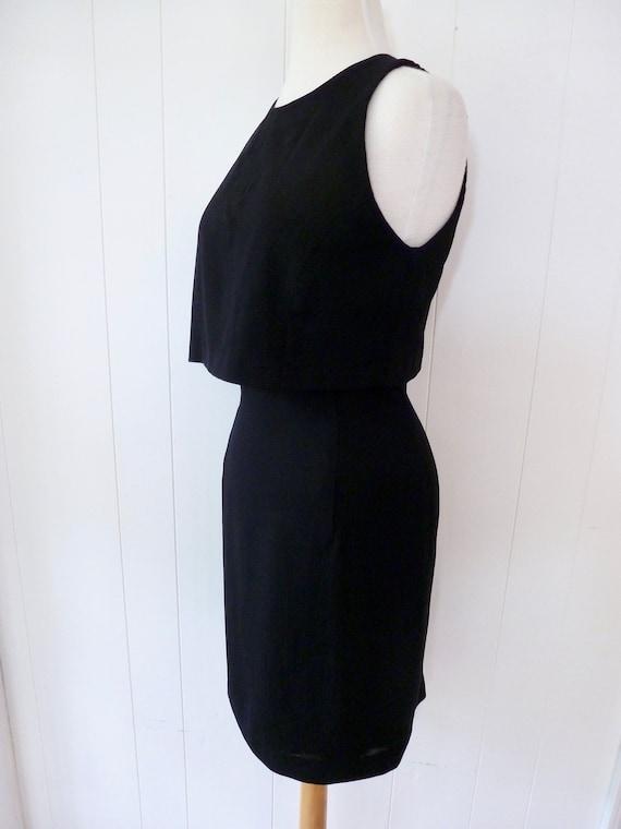 90's Scaasi Dress Minimalist Sleeveless Little Bla