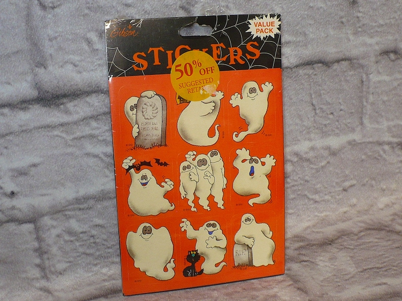 Vintage Stickers Halloween Gibson Greetings Mint Condition!!