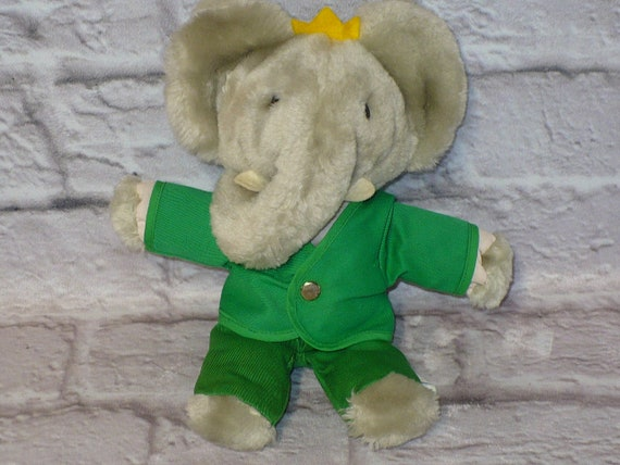 Eden Babar The Elephant 1977 Random House 9 Tall Plush Etsy