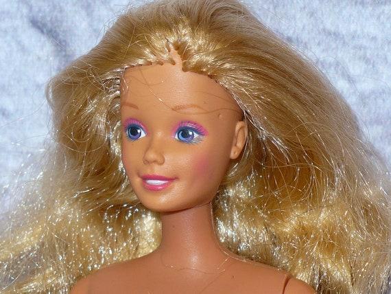 Vintage Mattel Barbie 1980s Barbie DOLL Nude Naked for OOAK or Custom Straight Arms Tan Skin