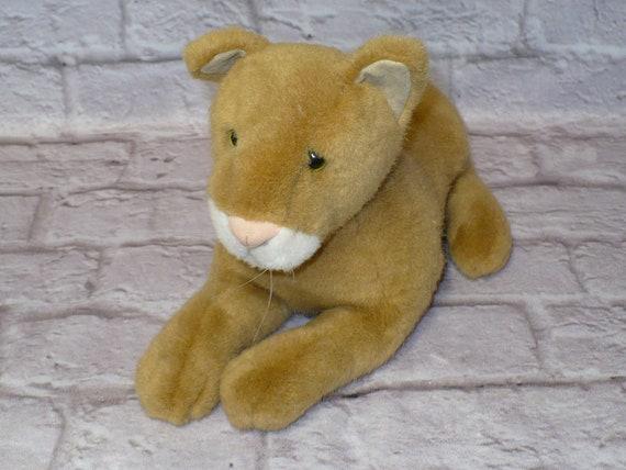 Vintage Dakin Shera Mountain Lion Cougar Lioness Plush Stuffed Etsy
