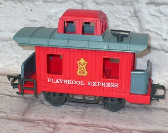 Vintage 1988 Playskool Express Train RED CABOOSE CAR Playskool Train Track