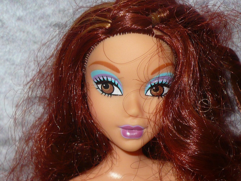 Barbie My Scene Chelsea Doll/'s Head Auburn Red Hair