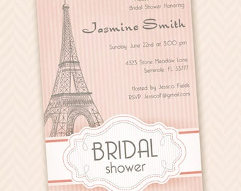 Paris bridal shower etsy paris bridal shower invitation filmwisefo