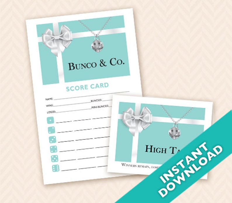 Bunco & Co. Bunco Scorecard and Table Marker Set Jewelry Box image 0