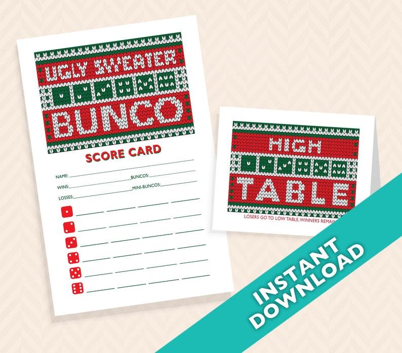 Ugly Sweater Christmas Bunco Set  Ugly Holiday Sweater Bunko image 0
