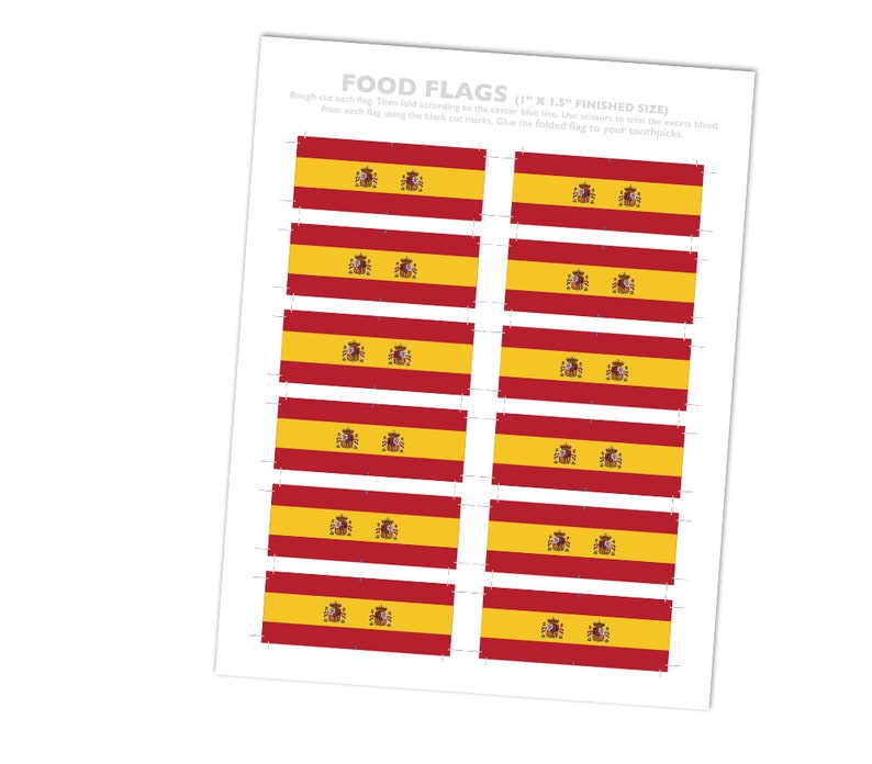 Spain Party Theme Spanish Flag Toothpick Party Decoration