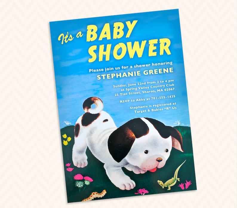 Poky Little Puppy Inspired Baby Shower Invitation Design image 0