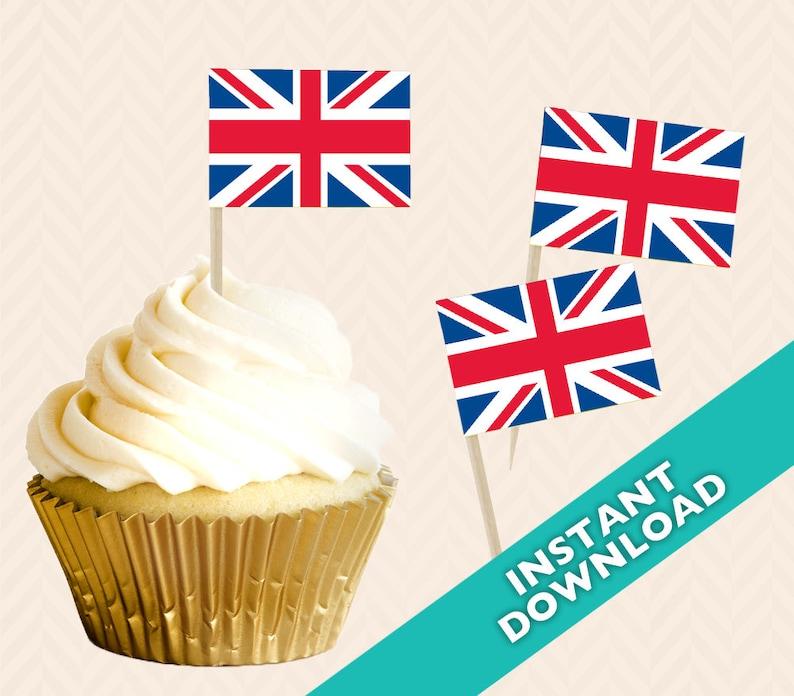 b6a2fb119ea Union Jack British Toothpick Party Decoration Royal Wedding