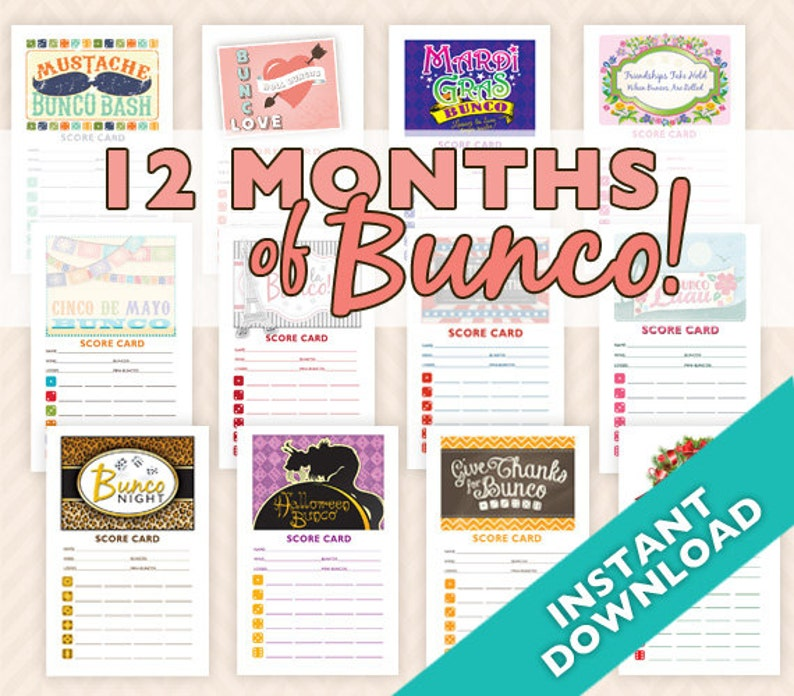 More than 20% OFF  12 Months of Bunco  12 Theme Bunco Score image 0