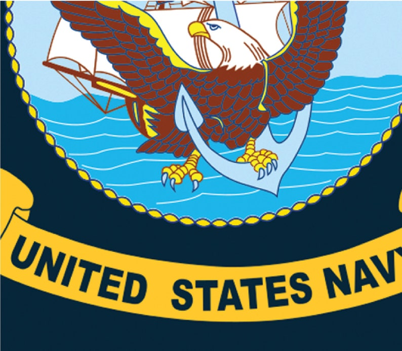 DIY printable food flag US Navy Flag Cupcake Topper Navy Food Flag cupcake topper