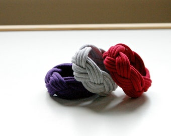 Cotton Cuff Bracelets - 10 cuffs for 40 dollars - by LimeGreenLemon