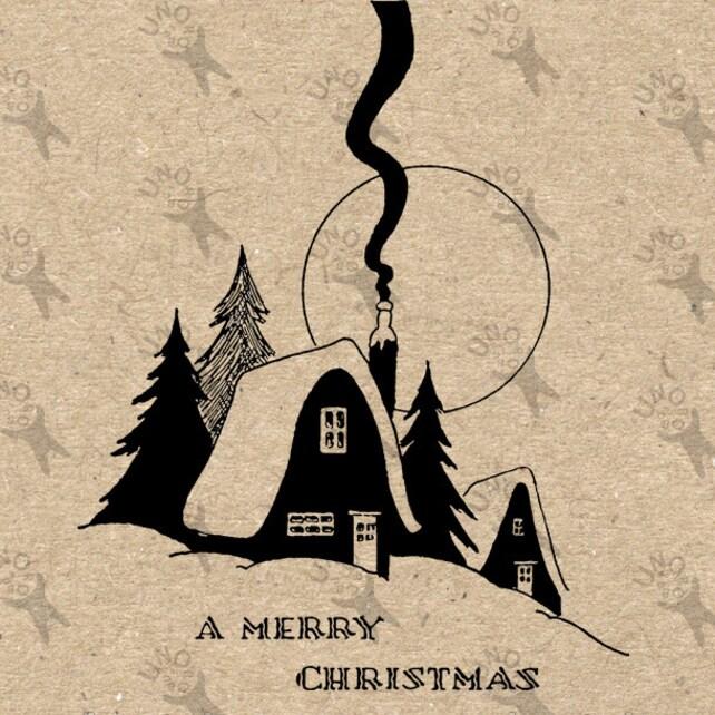 Frohe Weihnachten Text Wörter Weihnachtsbaum Haus Digital | Etsy