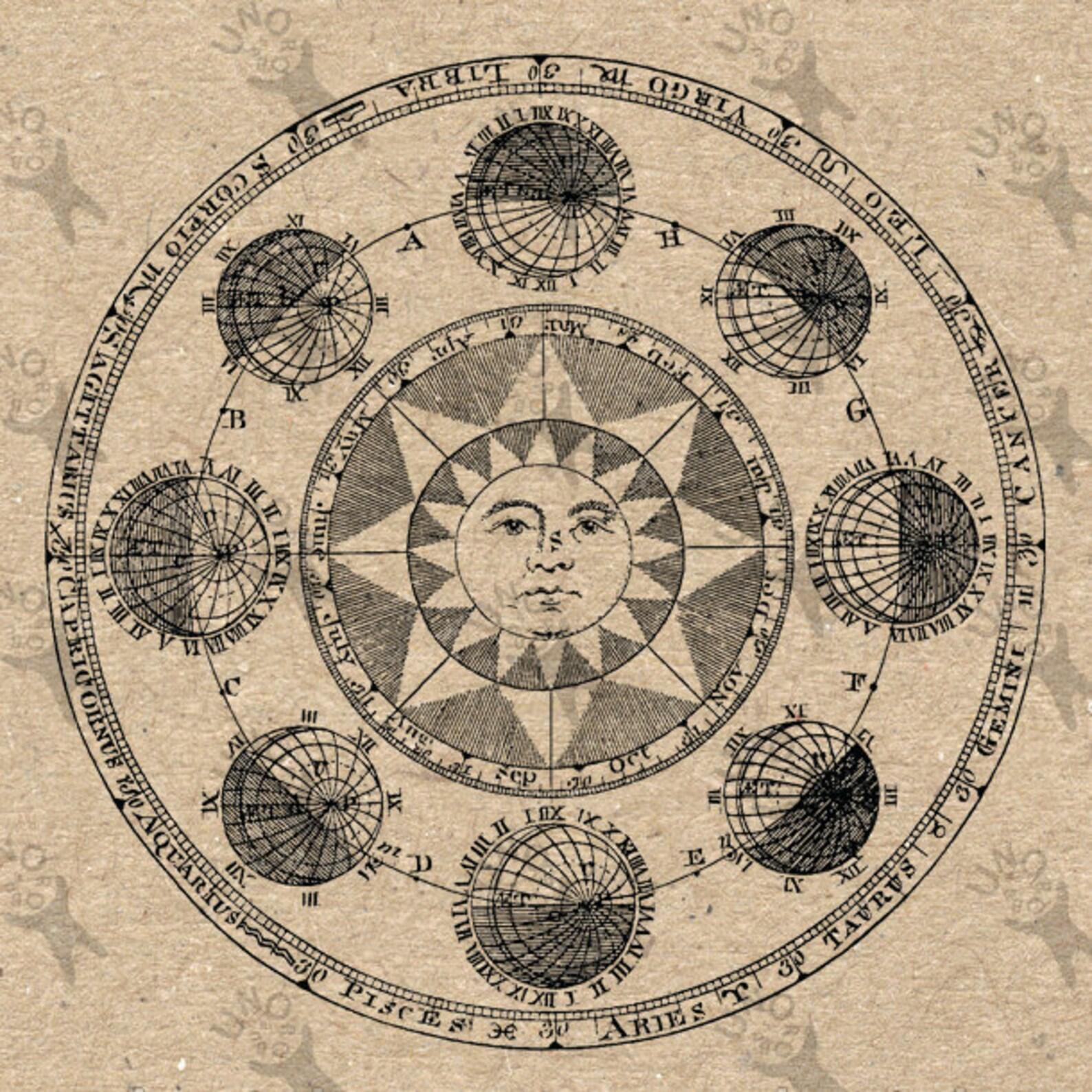 ancient astronomy symbols - HD1588×1588