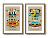 Kachina Doll, Set of Two Prints, Hopi Kachina Southwestern Decor, Native American Wall Art, American Indian, Rustic Western Decor