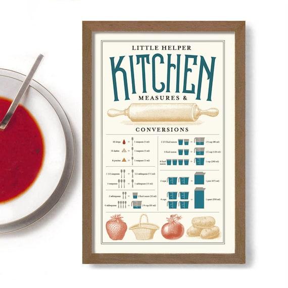 Kitchen Measurement Chart Gift Kidscareore