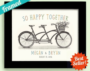 Unique Wedding Engagement Gift for Couples Anniversary Tandem Bike