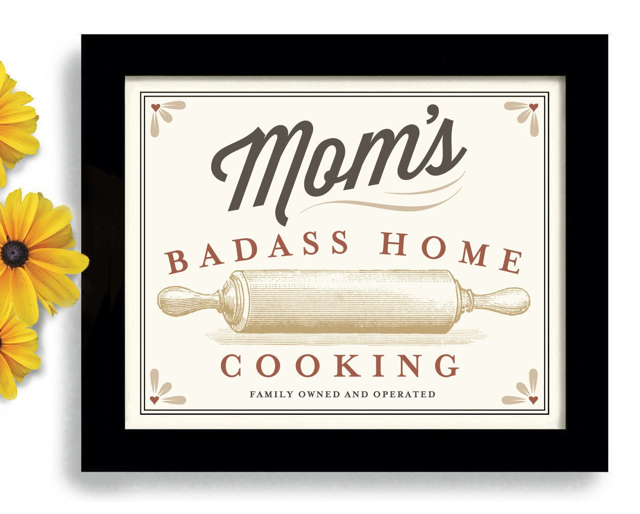 Mom\'s Home Cooking Rolling Pin Mothers Day Baking Art
