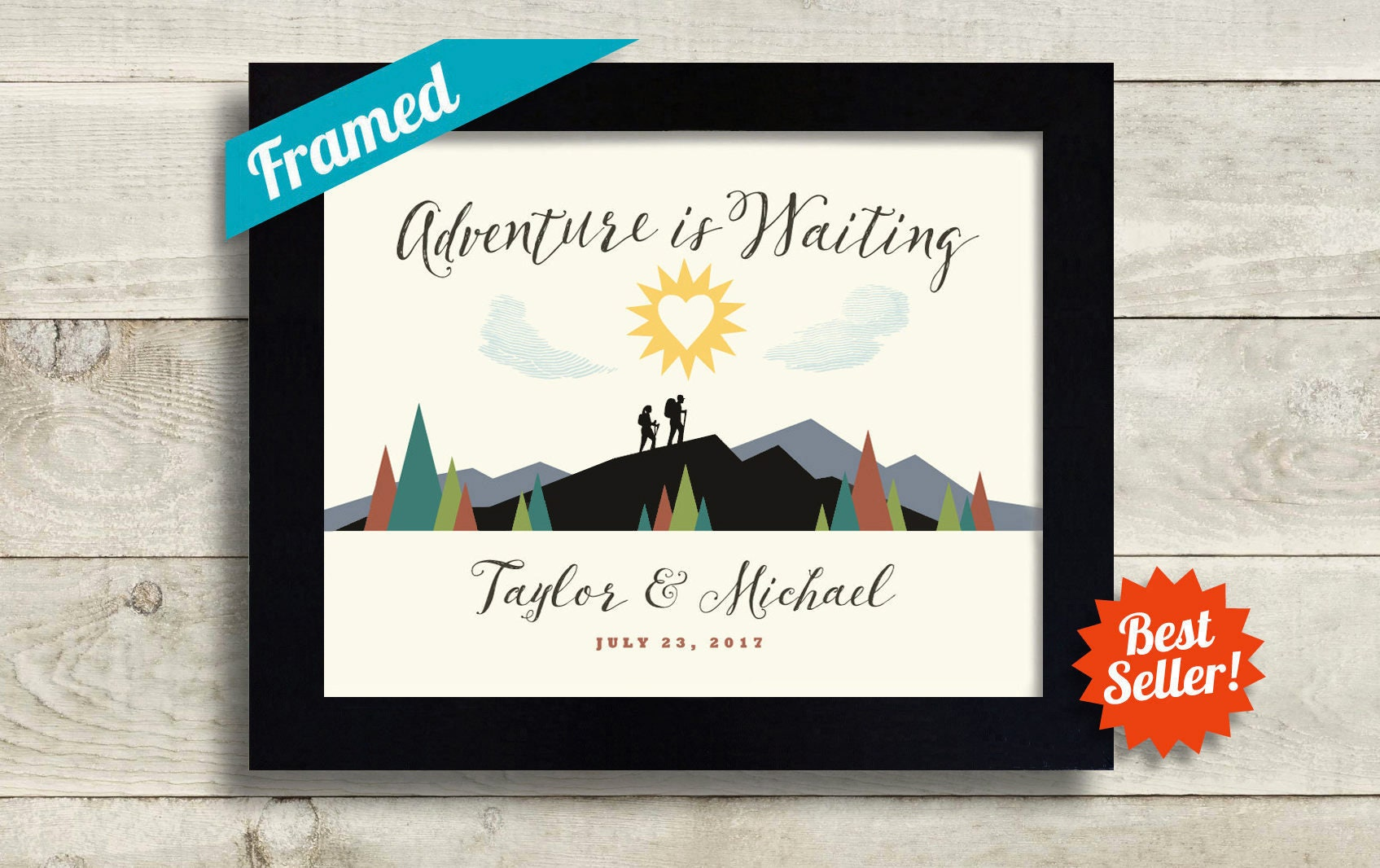 Practical Wedding Gifts For The Newlyweds: Outdoor Enthusiast Wedding Gift Hiking Gift For Newlyweds