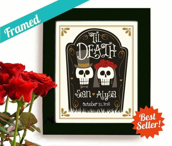 Skull Wedding Decor Halloween Wedding Art Day Of The Dead Etsy