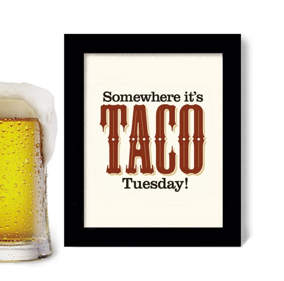Perfect Mexican Kitchen Decor Art Print Taco Tuesday Mexican Food Mi | Etsy