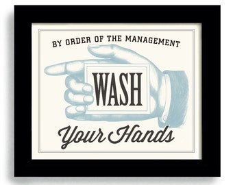 Bathroom Wall Decor Art Print, Wash Your Hands, Bath Art, Bath Time, Laundry Room Decor, Kitchen Art, Wall Art Poster, Mud Room