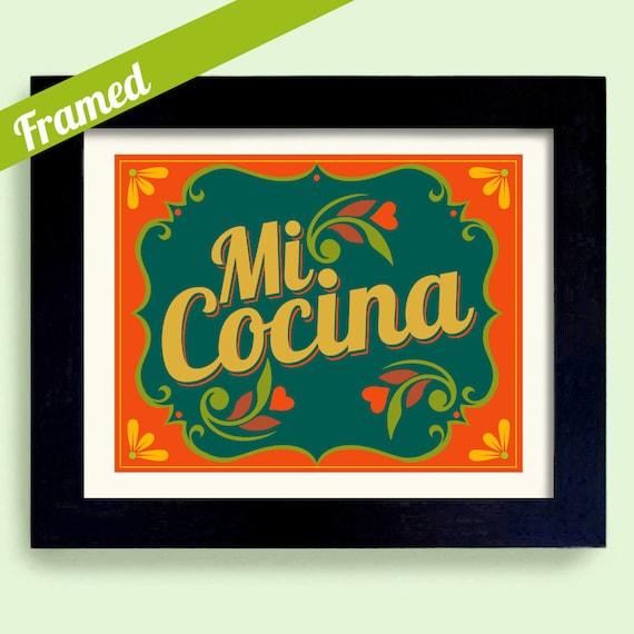 Kitchen framed art Painting Image Etsy Framed Art Mexican Kitchen Art Print Decor Love My Kitchen Etsy