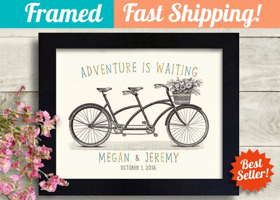 Personalized Wedding Gift For Best Friend Bicycle Theme Etsy