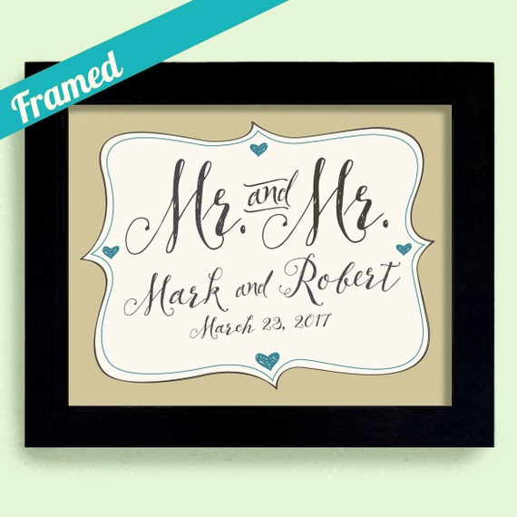 Mr And Mr Gay Wedding Gift Personalized Wedding Gift Etsy