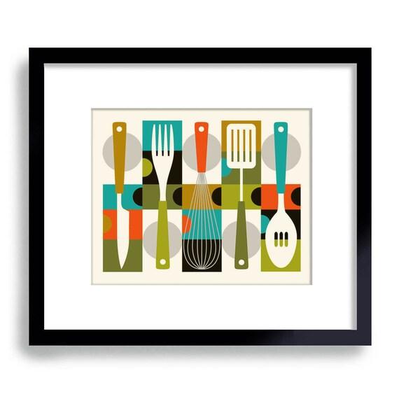 Mid Century Modern Kitchen Decor Kitchen Gift Contemporary