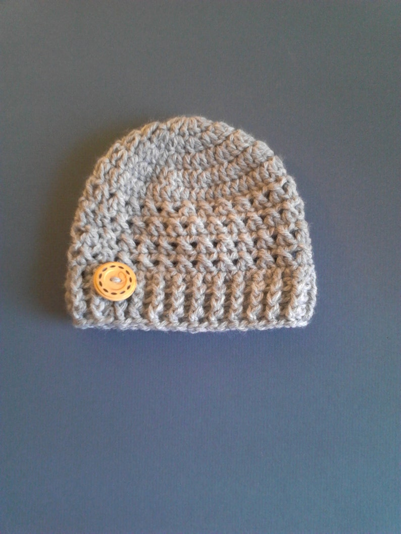 Crochet Beanie Hat Baby Boy Hat Crochet Hat With Button Baby hat