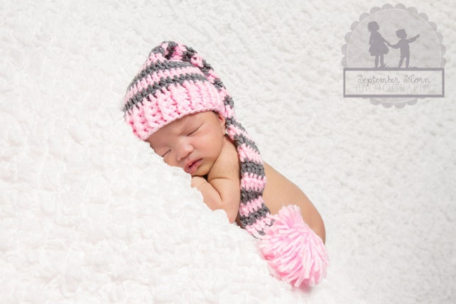 Lange Schwanz Elfe Baby Zipfelmütze Neugeborenen Mütze | Etsy