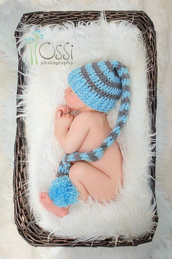 Baby lange Schwanz Zipfelmütze lange Schwanz Elf Mütze | Etsy