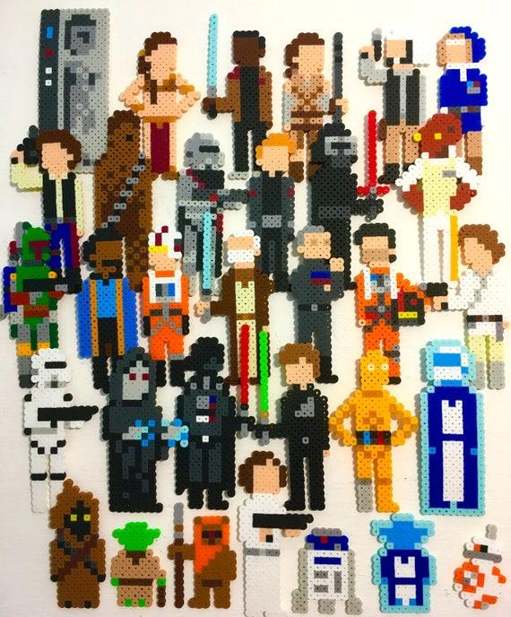 Star Wars Retro Pixel Pop Art 8 Bit Sprites Perler Bead Magnets Pins Mini Pix Characters