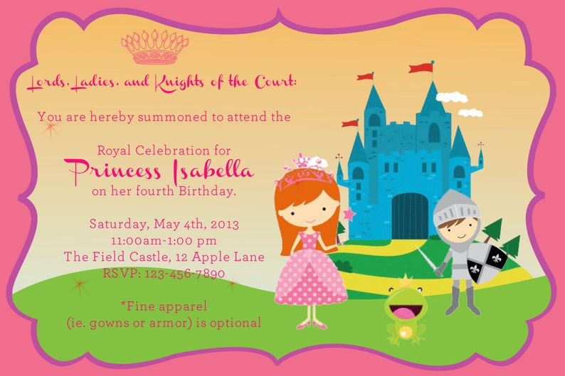 Princess /& Knight Party CUPCAKE TOPPERS girl birthday