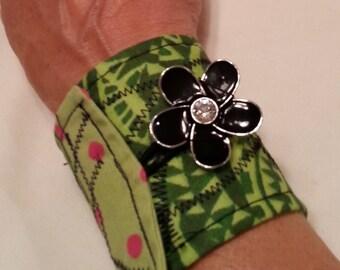 Fabric Wrap Cuff Bracelet