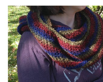 Infinity Scarf - Multicolored Circle Scarf - Ready to Ship - Christmas Present - Gift Idea