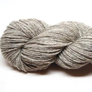 Light Grey CVM Romeldale yarn 2 ply dk 250 yards 100 gr