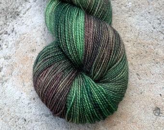 """Fingering Weight, """"Into the Woods"""" Merino Wool Superwash Yarn, 4 oz, machine washable yarn"""