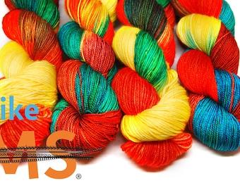 """Sport Weight, """"Crush MS"""" Merino Wool Superwash Yarn, 4 oz, machine washable yarn"""