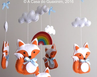 Baby Mobile - Foxes