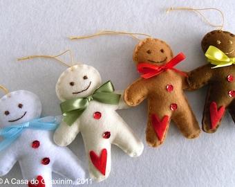 Gingerbread Man - Christmas Ornaments - Set of 4
