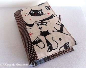 Cats Fabric Book Cover