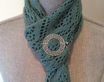 Silver shawl pin